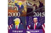 """""""عائلة سيمبسون""""توقع قيادة """" المجنون ترامب""""لأمريكا قبل 16 عاما"""