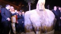 """التمثال المكتشف حديثا في مصر """"ليس لرمسيس الثاني"""""""