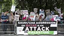 مظاهرة أمام السفارة الإماراتية في لندن