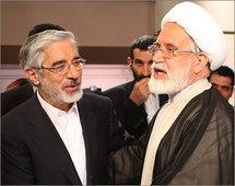 المرشحان الخاسران مهدي كروبي ومير حسين موسوي