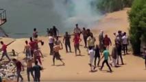 اشتباكات الشرطة مع اهالي جزيره الوراق