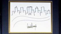 تخطيط رسمه ترامب يُباع في مزاد بنحو 30 ألف دولار