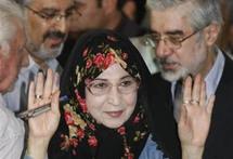 زهرة رهنورد زوجة مير حسين موسوي