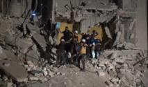 مقتل وإصابة نحو 100 بقصف جوي على ريف ادلب بسورية