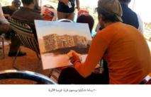 في الاردن ..  20 رساما تشكيليا يرسمون قرية غريسا الأثرية
