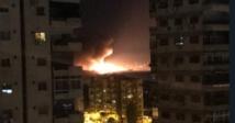 انفجارات متتالية تهز مطار المزة العسكري غربي دمشق