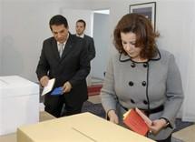 الرئيس التونسي وزوجته ليلى