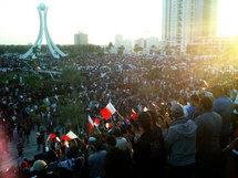 تظاهرات البحرينين دوار اللؤلؤة في المنامة الاسبوع الماضي