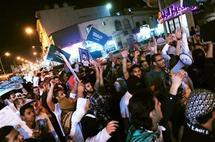 مئات الشيعة يتظاهرون في شرق السعودية مطالبين باطلاق سراح سجناء
