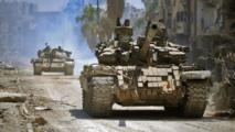 النظام يحاول اقتحام خان شيخون  والروس يقصفون بصواريخ ارتجاجية