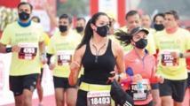 الآلاف يشاركون في نصف ماراثون دلهي رغم ارتفاع معدلات التلوث