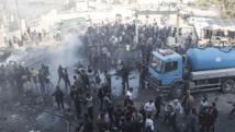 تفريق مظاهرة طالبت باعدام معتقل بمدينة الباب السورية