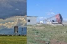 """فصيل """"التركستان"""" يواصل تفكيك محطة زيزون الحرارية بسهل الغاب"""