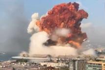 اصابة العشرات بانفجار كبير بمرفأ بيروت بعد تهديد من تنانياهو