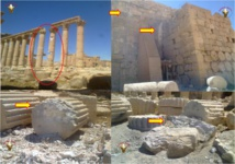 الأضرار التي لحقت بمعبد بيل بفعل النظام
