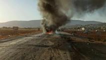 طائرة بدون طيار تقصف قياديين لحراس الدين غرب إدلب