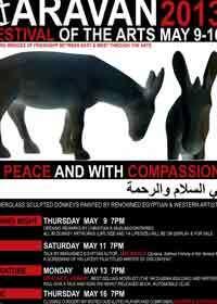 """معرض مجسمات لمهرجان """"كرافان"""" المصري يظهر """"الحمار"""" كرمز للسلام والمحبة"""