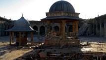 المسجد الأموي في حلب وهو مدرج على قائمة التراث العالمي لليونسكو