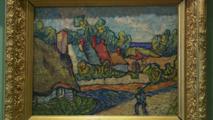 لوحة لفان غوخ تزين جدران مقهى في مدينة ريدنغ البريطانية