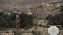 اكتشاف تمثالين لآلهة الحرب والانتقام بالأقصر