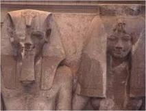 """رفع الستار عن تمثال جديد للملك امنحتب الثالث والملكة""""تى"""" جنوب مصر"""