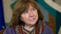 سفيتلانا أليكسيفيتش البيلاروسية تفوز بجائزة نوبل في الأدب