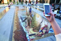 """رسوم ثلاثية البعد من مهرجان """"دبي كانفس"""" ستزين الشوارع بشكل دائم"""