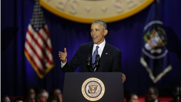 أوباما يحذر من الاستقطاب السياسي في  خطاب الوداع