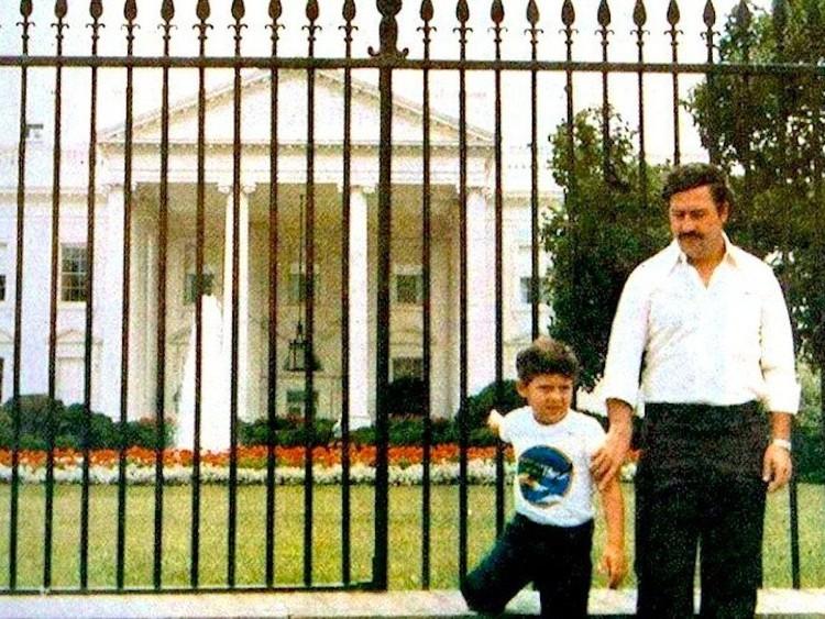 خوان بابلو إسكوبار و ابنه