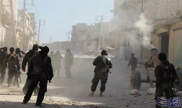 استمرار الاشتباكات في حي جوبر