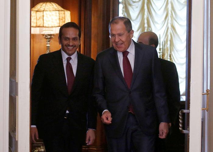 لافروف يبحث مع نظيره القطري تأزم العلاقات بين قطر وجيرانها