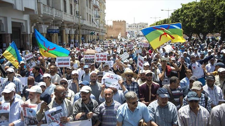 """عشرات الآلاف يحتجون بالرباط تضامنا مع """"حراك الريف"""""""