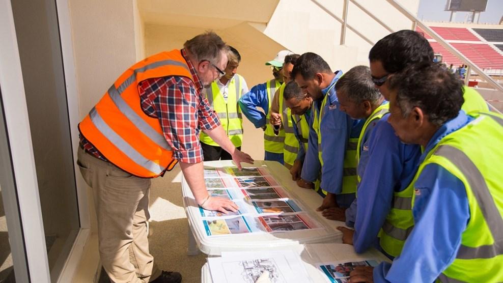 لجنة المشاريع والإرث تصدر تقريرًا حول رعاية عمال مونديال 2022