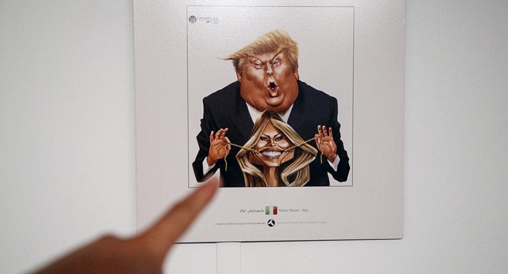 إيران تسخر من ترامب عبر معرض كاريكاتور يدوم ثمانية أيام