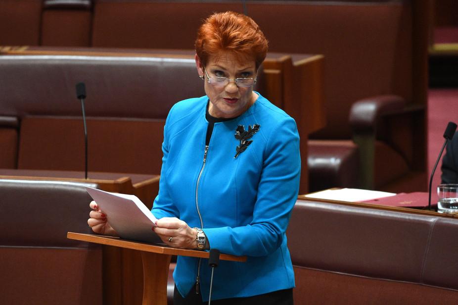 سيناتور يمينية تدخل البرلمان الاسترالي بالبرقع قبيل مناقشة حظره