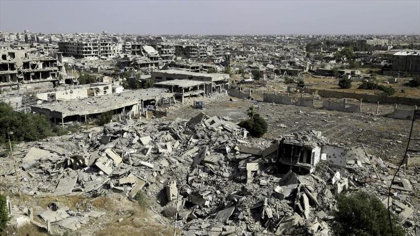 الارض المحروقه التي مارسها النظام السوري شرق دمشق