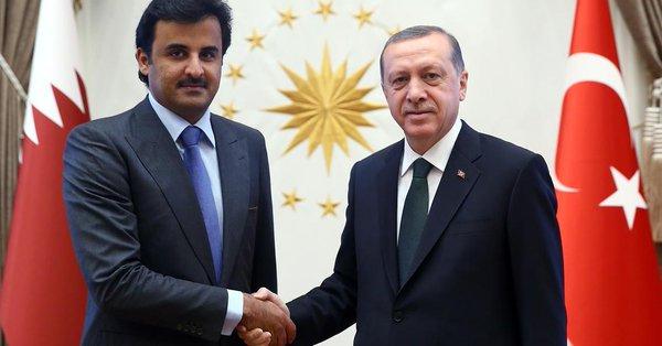 أردوغان وأمير قطر يؤكدان ضرورة حل الأزمة الخليجية دبلوماسيا