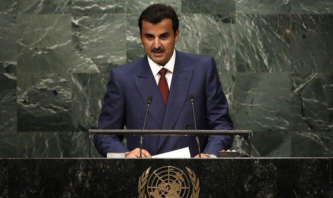 """أمير قطر بالامم المتحدة :  قرصنة """"قنا"""" تمت لأهداف مبيتة"""