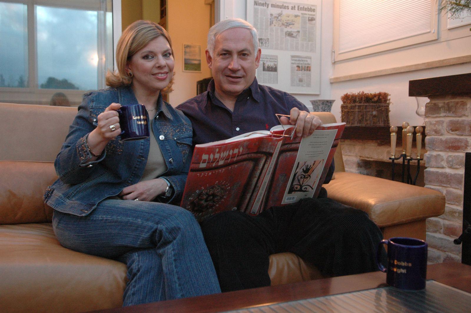 نتانياهو وزوجته سارة
