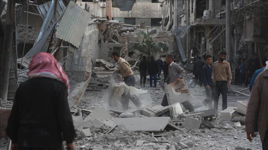 مقتل 6 مدنيين في قصف للنظام السوري على الغوطة الشرقية
