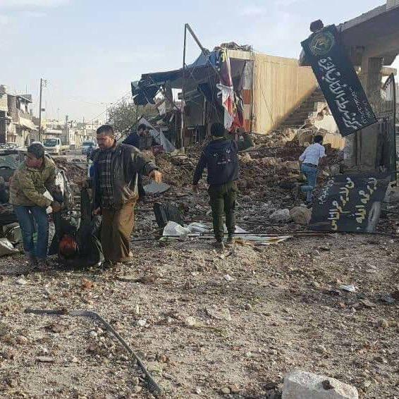 قصف صاروخي روسي لسوق بريف حلب يوقع عشرات الضحايا