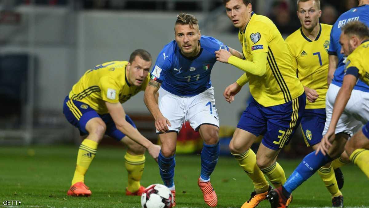 الاعلام الايطالي يصف إخفاق الأزوري في التأهل للمونديال بنهاية العالم