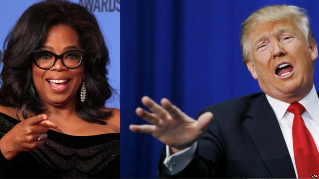 ترامب يقول إنه يعرف أوبرا وينفري ويشكك في ترشحها للرئاسة
