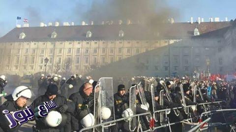 الآلاف يتظاهرون في فيينا احتجاجا على الحكومة اليمينية الجديدة