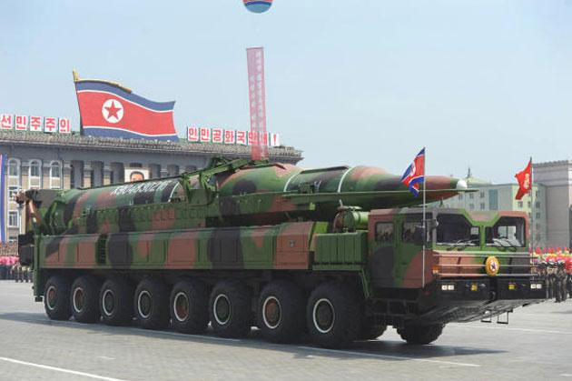 العرض الكوري الشمالي شمل صاروخا بالستيا عابرا للقارات