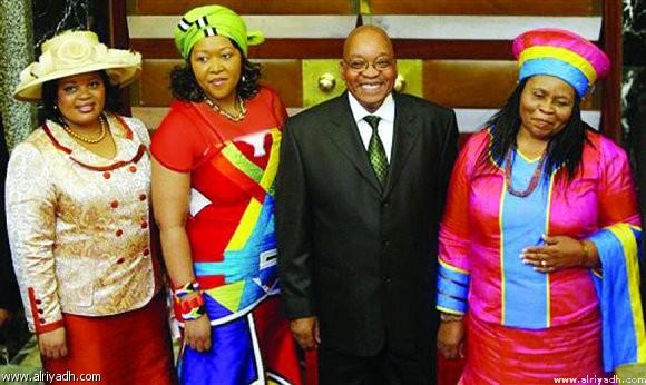 زوما وزوجاته الاربع