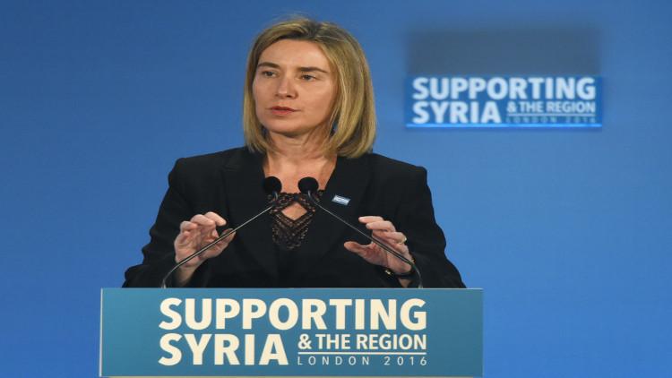 موغريني تدعو روسيا وايران للتنفيذ الفوري لوقف النار بسورية