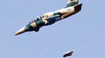 سقوط طائرة حربية سورية بالقلمون الشرقي شمال دمشق