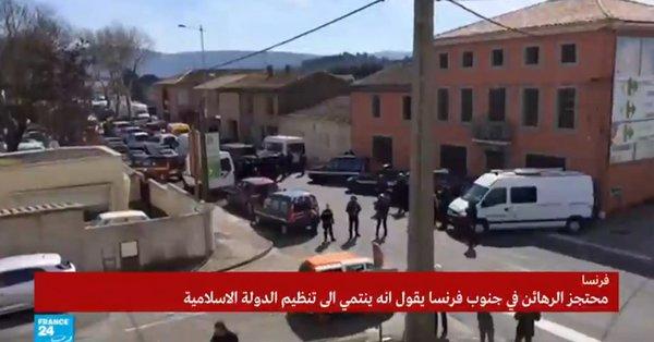 مقتل ثلاثة ومحتجز الرهائن بجنوب فرنسا يعلن انتماءه لداعش