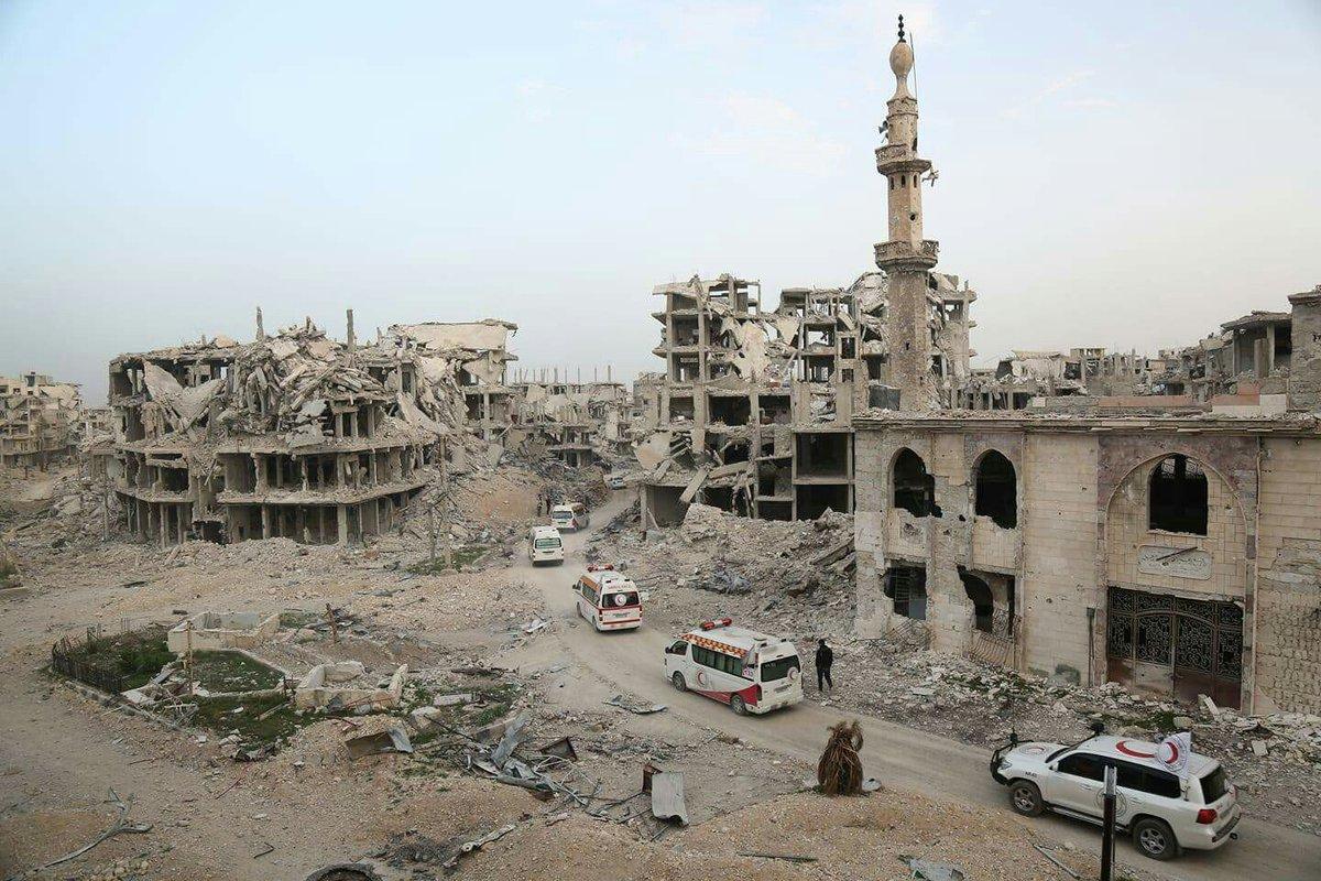 اثار الدمار الهائل في عربين